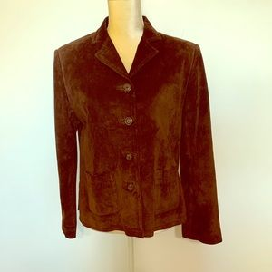 Middlebrook Park Dark Chocolate Leather Blazer
